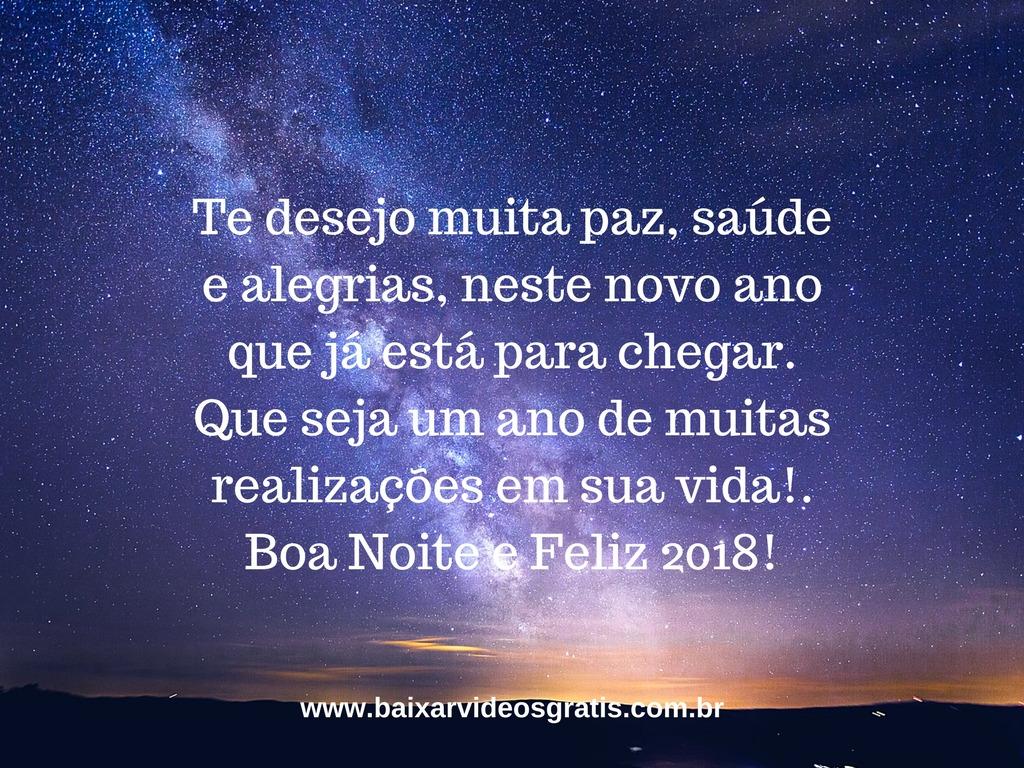 Frase De Boa Noite Para Desejar Um Feliz Ano Novo Te Desejo Muita Paz