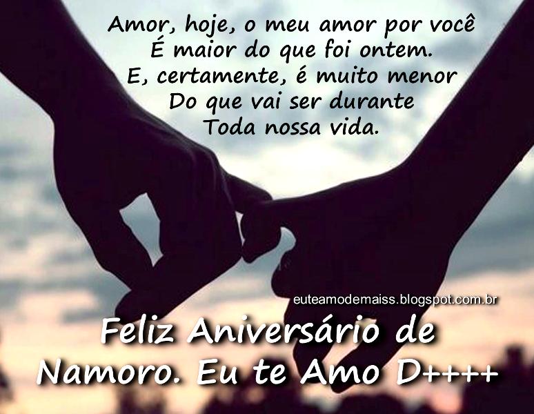 Mensagens De Aniversário Para Namorado Com Muito Amor: Mensagem De Amor Para Namorado! Feliz Aniversário De Namoro