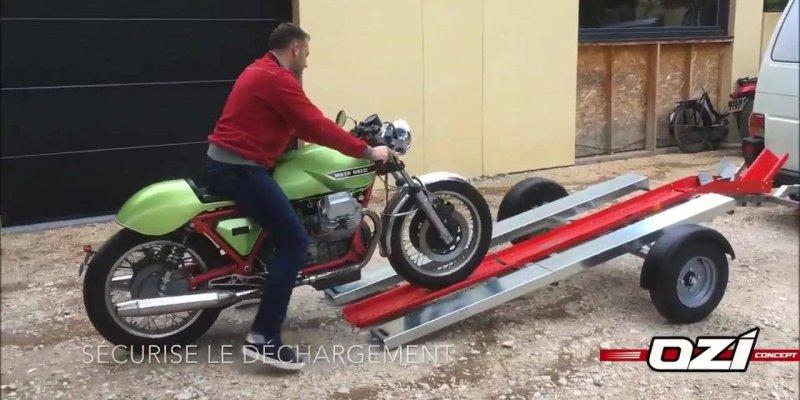 Carretinha para carregar moto, diferente e criativa, confira!