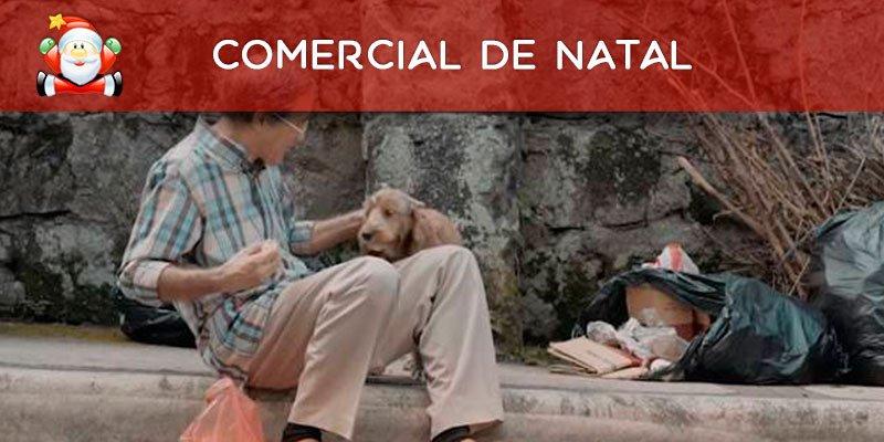 Comercial de Natal onde um cachorro acha uma família para um homem solitário!