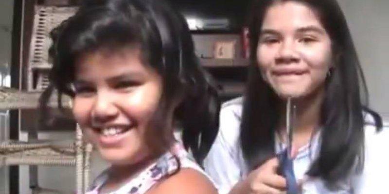 Nunca deixe a sua irmã cortar seu cabelo só para fazer video hahaha!