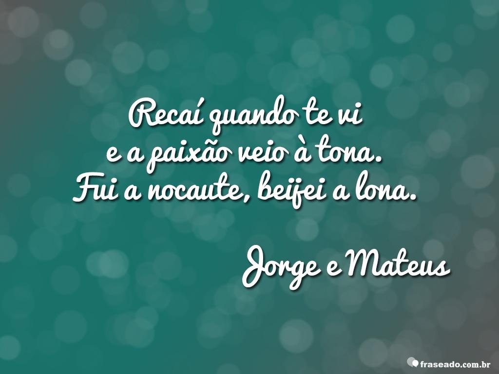 Imagem Com Trecho De Música De Jorge E Mateus