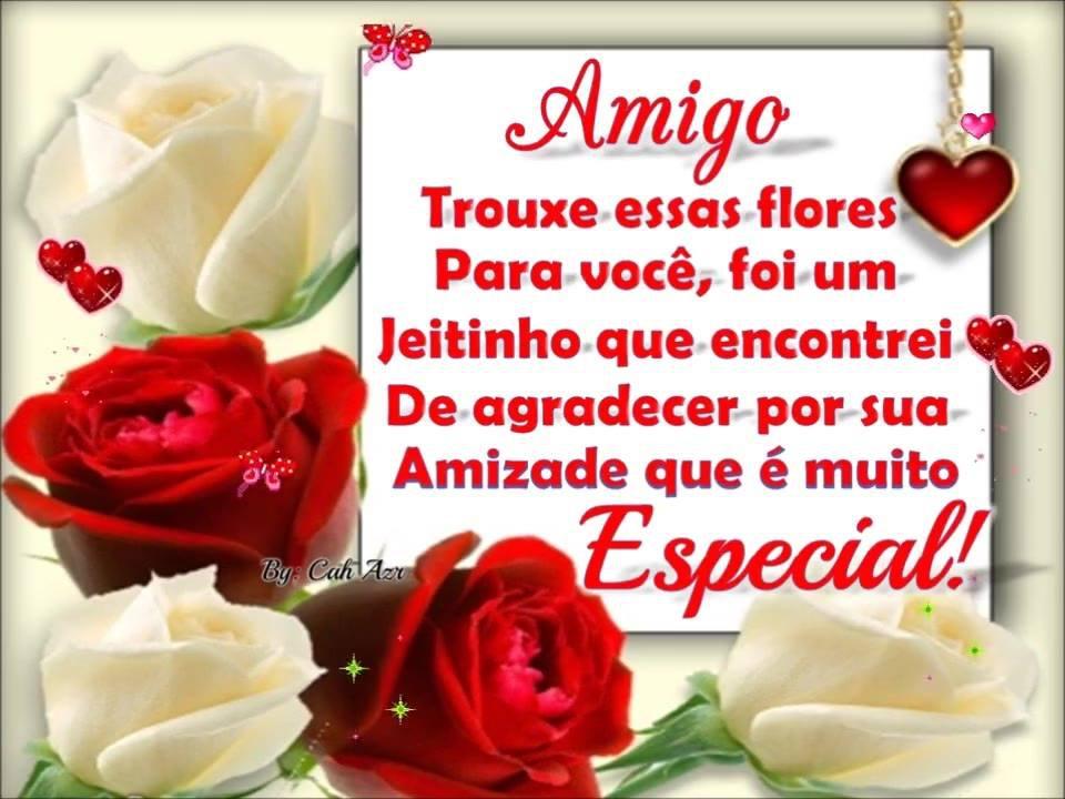 Flores Para Um Amigo, Envie Através Do Whatsapp E Agradeça
