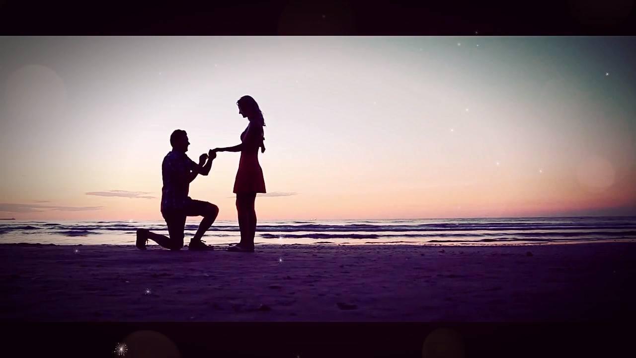 Vídeo Com Mensagem De Pedido De Casamento Romântico. Baixe