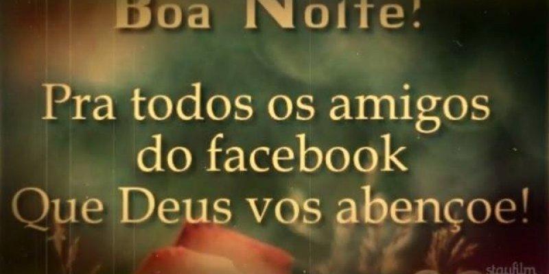 Boa Noite Para Amigos Do Facebook, Com Linda Mensagem De Paz