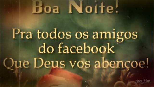 Boa Noite Para Facebook: Boa Noite Para Amigos Do Facebook, Com Linda Mensagem De Paz