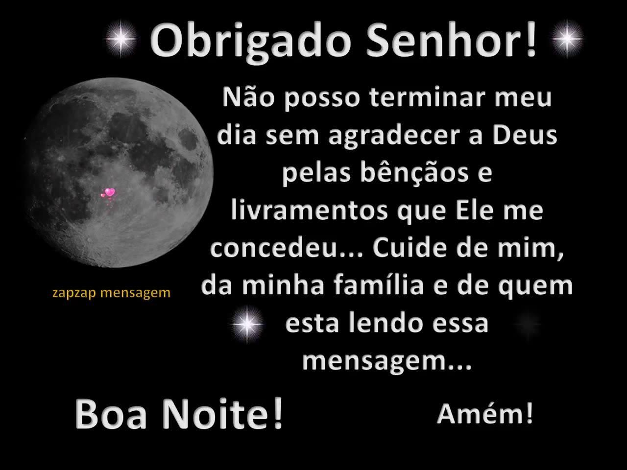 mensagem de boa noite Evangélica lua cheia