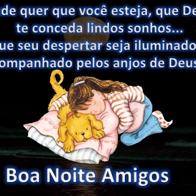 Mensagem De Boa Noite Para Amigos Que Os Anjos De Deus Abençoe Sua