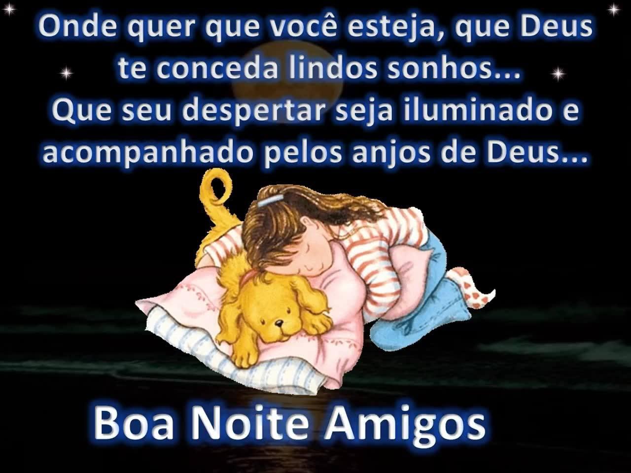 Mensagem De Boa Noite Para Amigos! Que Os Anjos De Deus