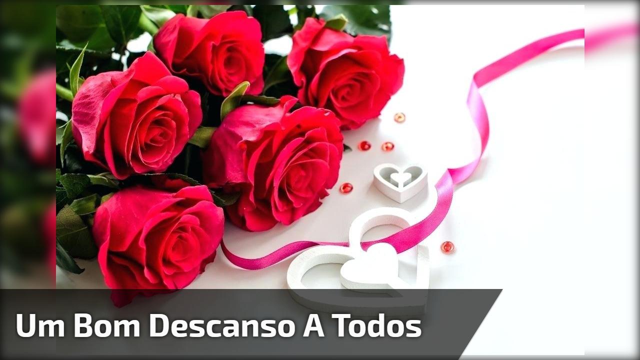 mensagem de boa noite para whatsapp com flores românticas