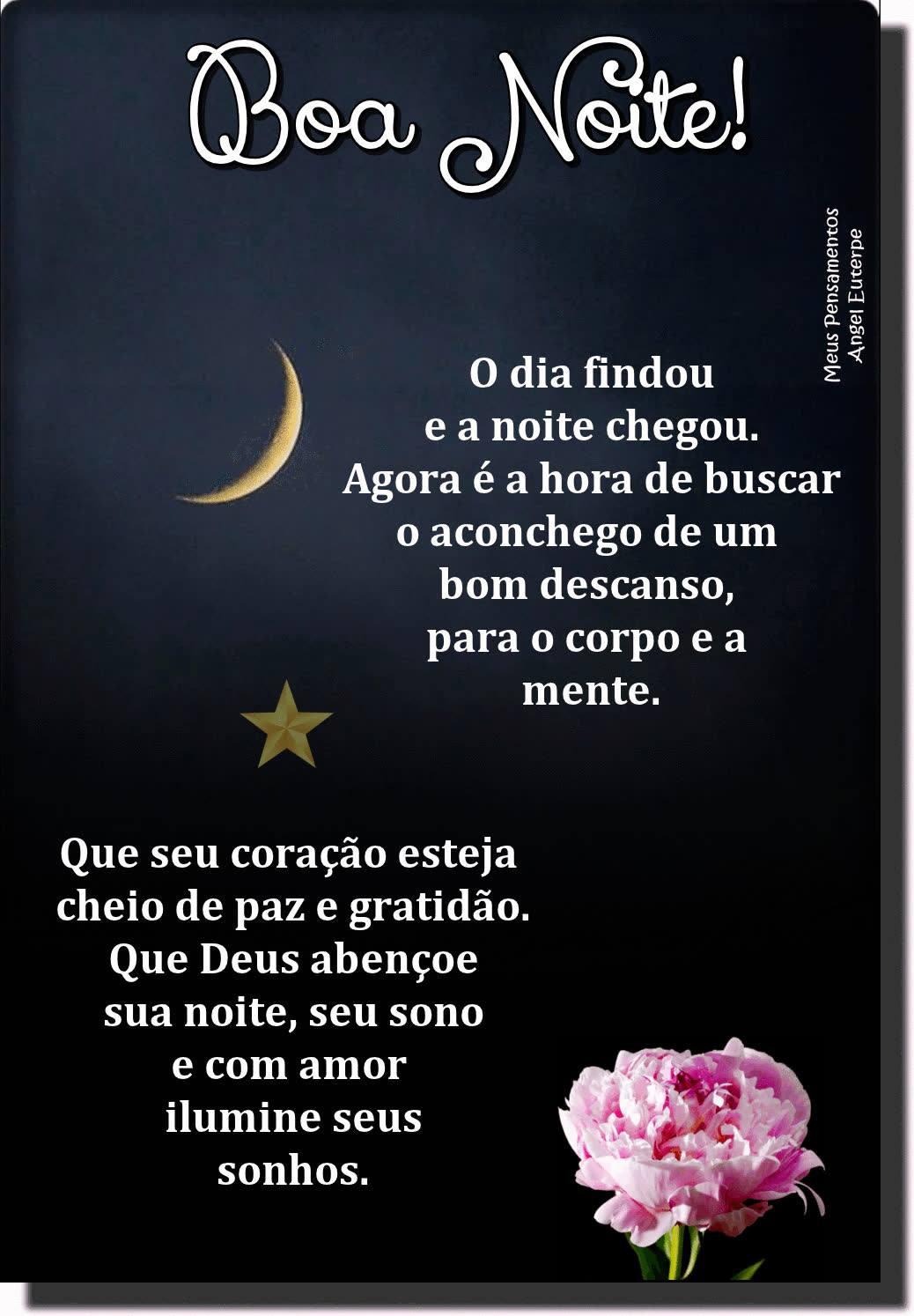 mensagem de boa noite simples e curta para facebook