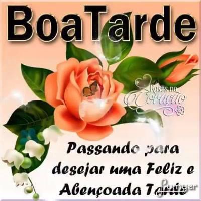 Boa Tarde Abençoada Para Amigos E Amigas Do Whatsapp E Facebook