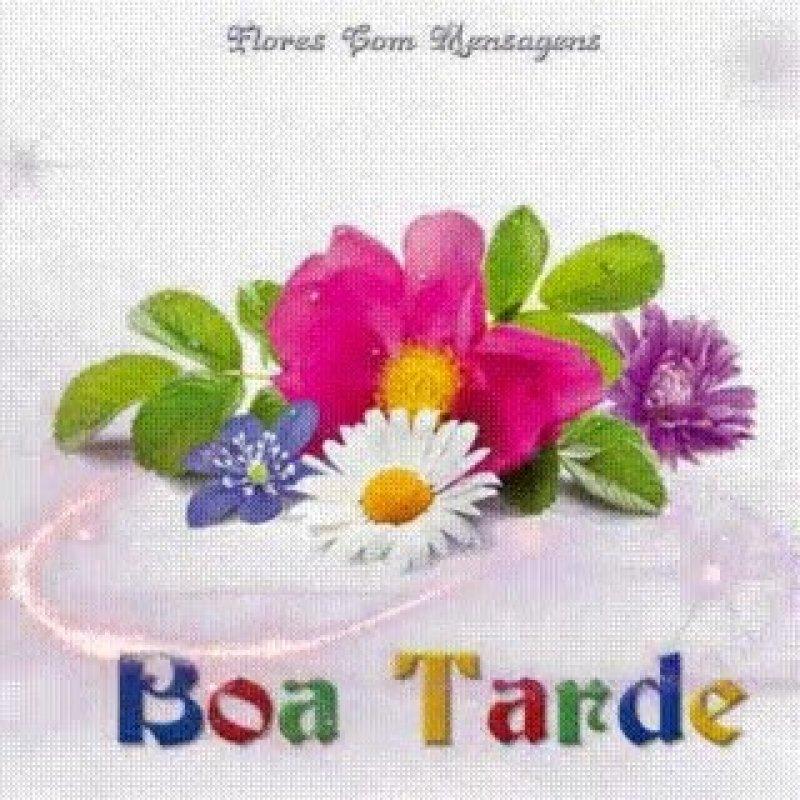 Boa Tarde Com Brilho E Flor Para Compartilhar No Facebook