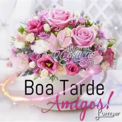 Vídeo De Boa Tarde Amigos Com Muitas Flores Compartilhe No Facebook