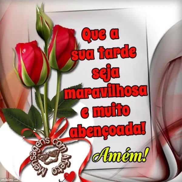 Vídeo De Boa Tarde Com Flores E Oração Compartilhe No Facebook