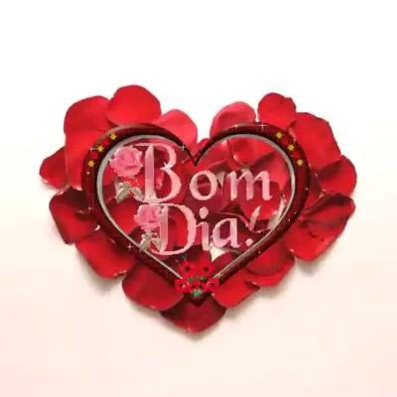 Vídeo De Bom Dia Amor Para Whatsapp Com Coração Feito De Pétalas De
