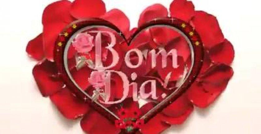 Video De Bom Dia Amor Para Whatsapp Com Coracao Feito De Petalas De