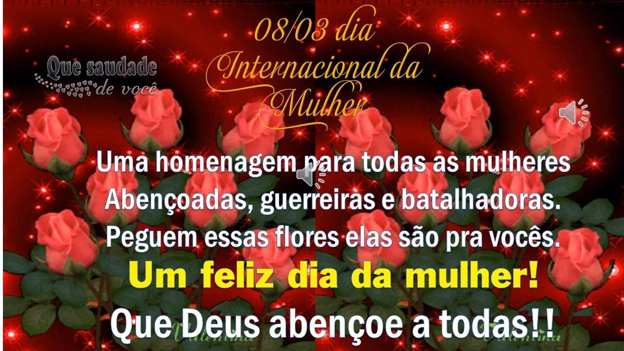 Mensagens Do Dia Da Mulher: Mensagem Linda Para O 08/03 Dia Internacional Da Mulher