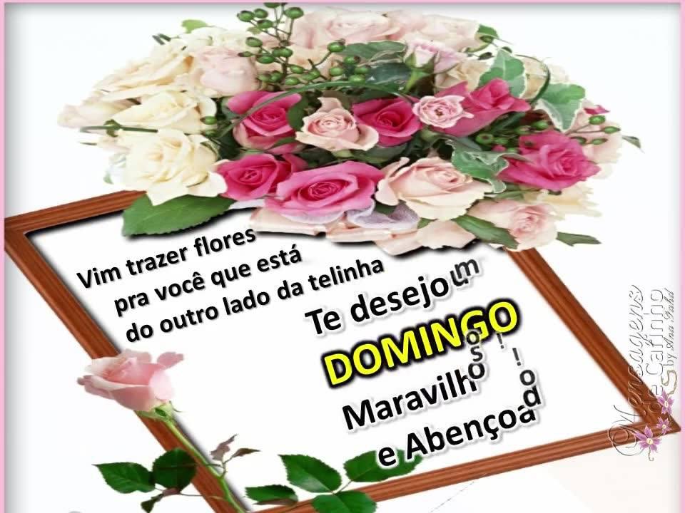 Mensagem Especial De Domingo: Famosos Feliz Domingo Com Flores KM03
