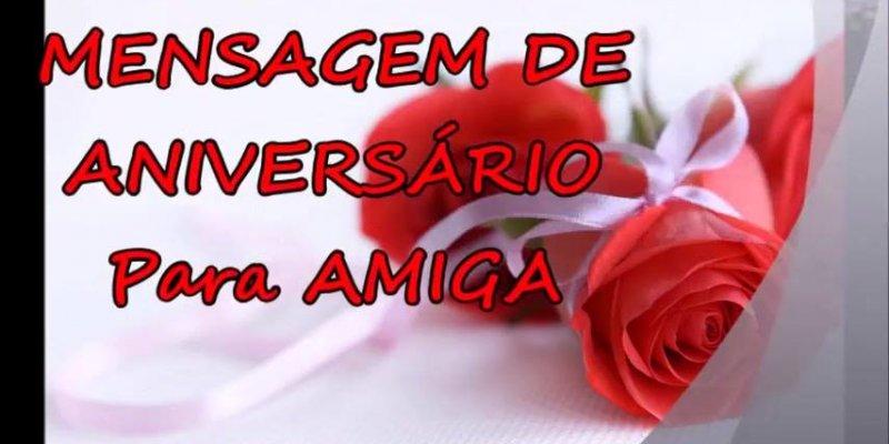 Mensagem De Aniversario Para Amiga Facebook: Mensagem De Aniversário Para Amiga, Perfeito Para Enviar