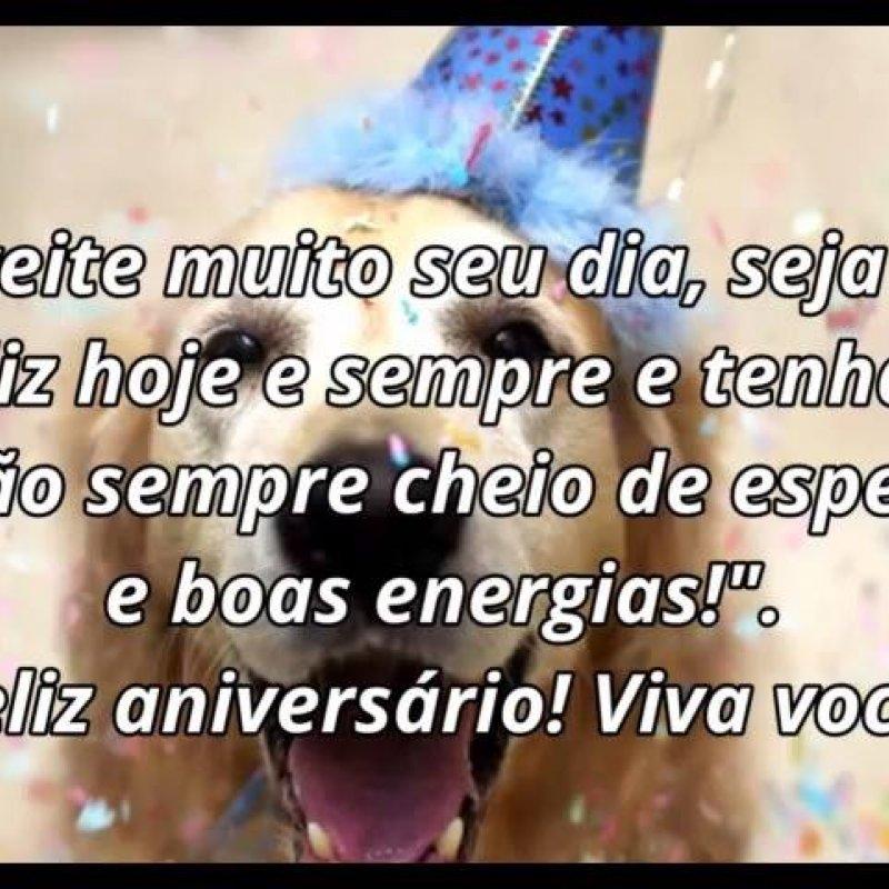 Mensagem De Feliz Aniversario Com Cachorro Para Parabenizar No