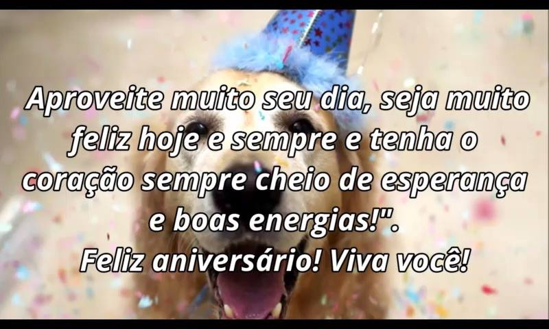 Mensagem De Feliz Aniversario Com Cachorro, Para