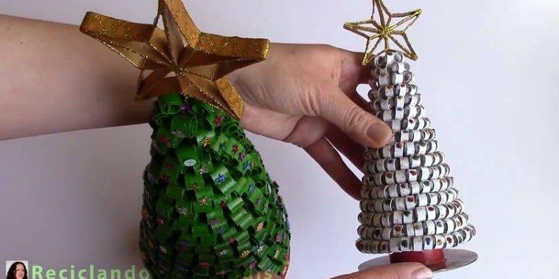 Fabuloso Árvore de Natal feita com rolos descartáveis de papel higiênico! FE67