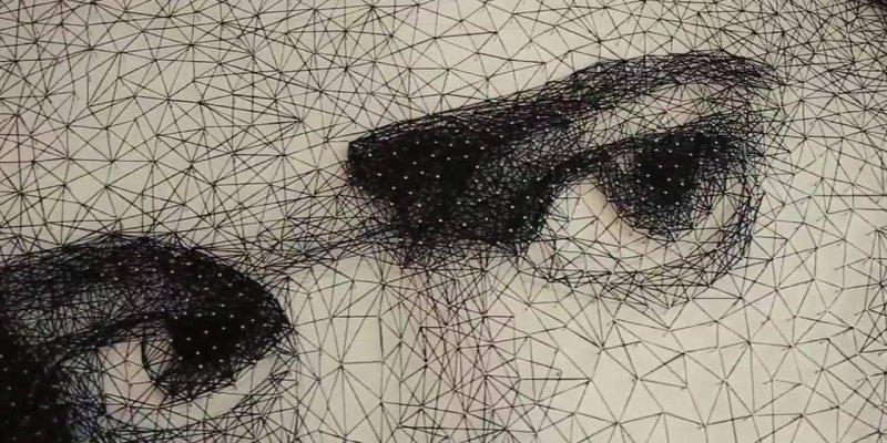 Arte de transformar pregos e linha, em uma linda obra de arte!!!