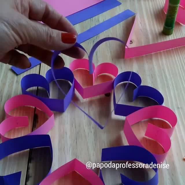 Artesanato Para O Dia Das Mães Um Lindo Enfeite De Corações