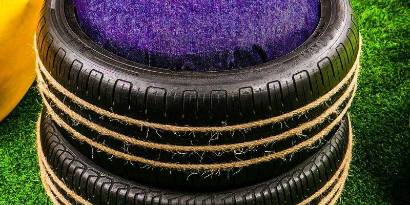 Artesanatos com pneu velhos, agora ficou fácil reaproveitar eles!