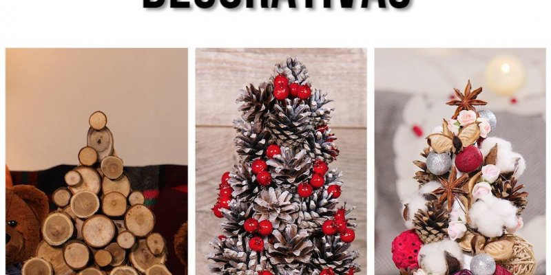 Árvores de Natal decorativas super fáceis de fazer, confira!