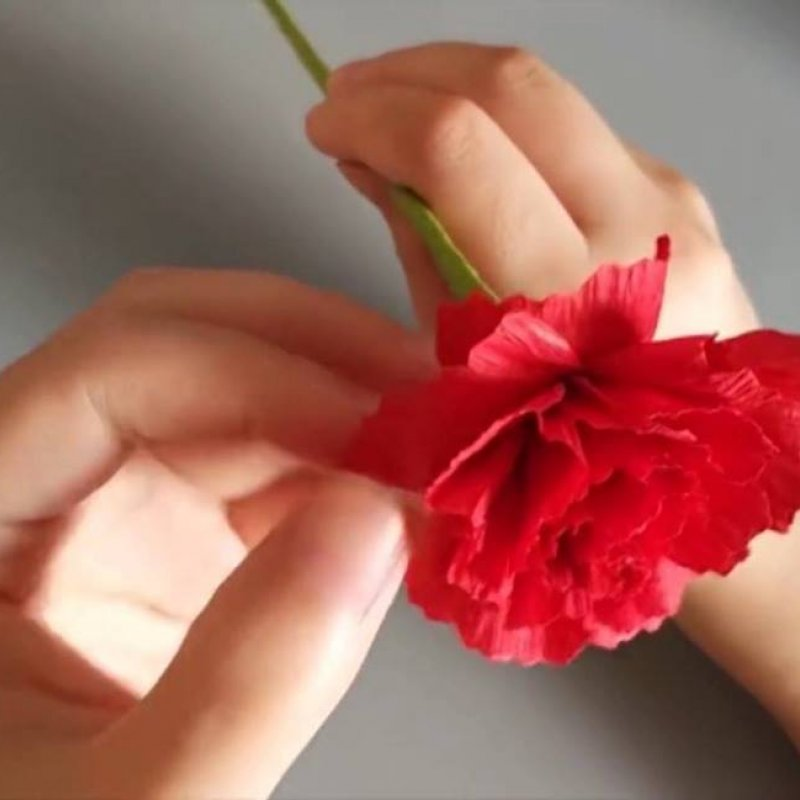 Como Fazer Flores E Folhinhas Com Papel Crepom E Cortes