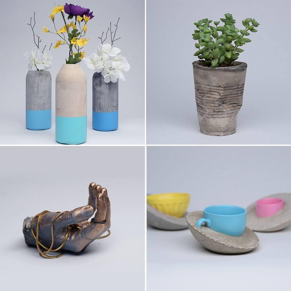 Aparador De Grama Eletrica ~ Dicas de artesanato para fazer com cimento, ideias criativas para voc u00ea!