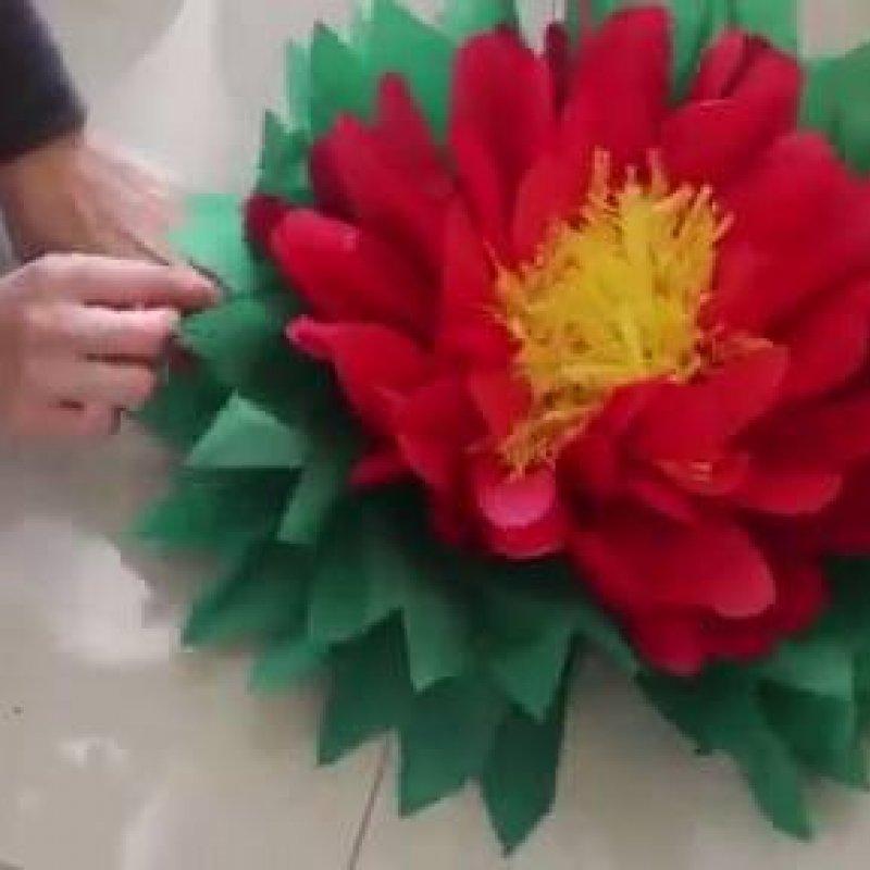 Flores Artesanais De Papel De Seda Elas Ficam Grandes E Lindas