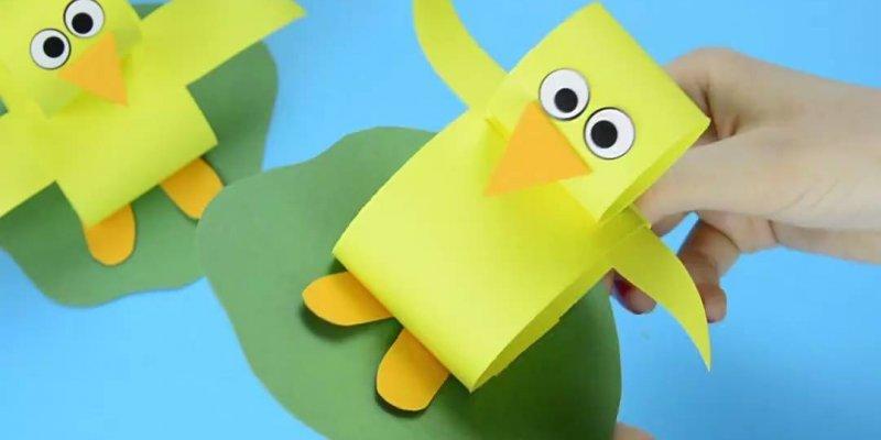 Pintinho amarelinho de papel, aprenda a fazer e depois ensine seus alunos!