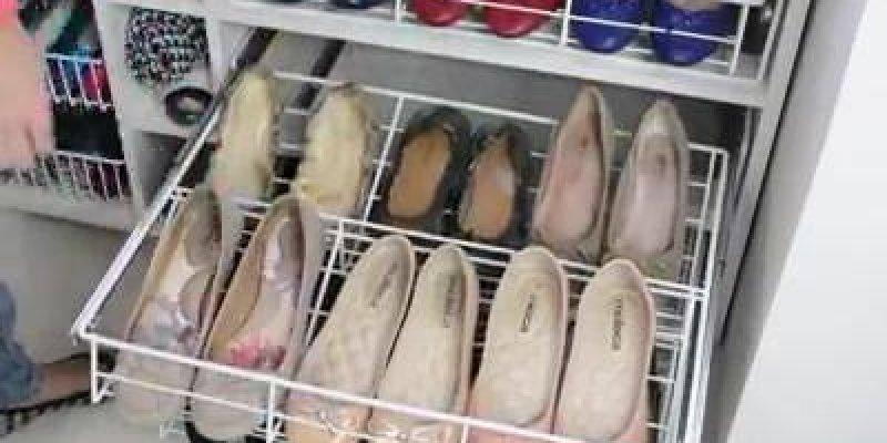 Sapateira para quarto, uma ideia muito legal para organizar seus sapatos!