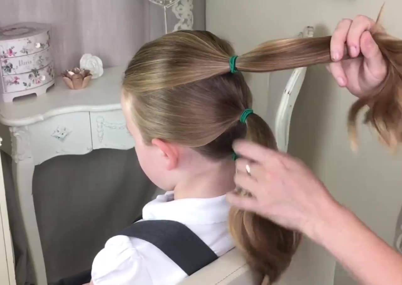 Penteado Infantil Perfeito Para Variar Na Hora De Ir Para