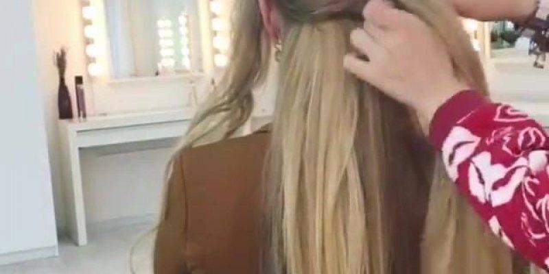 Penteado para cabelos longos, o resultado fica muito lindo, confira!