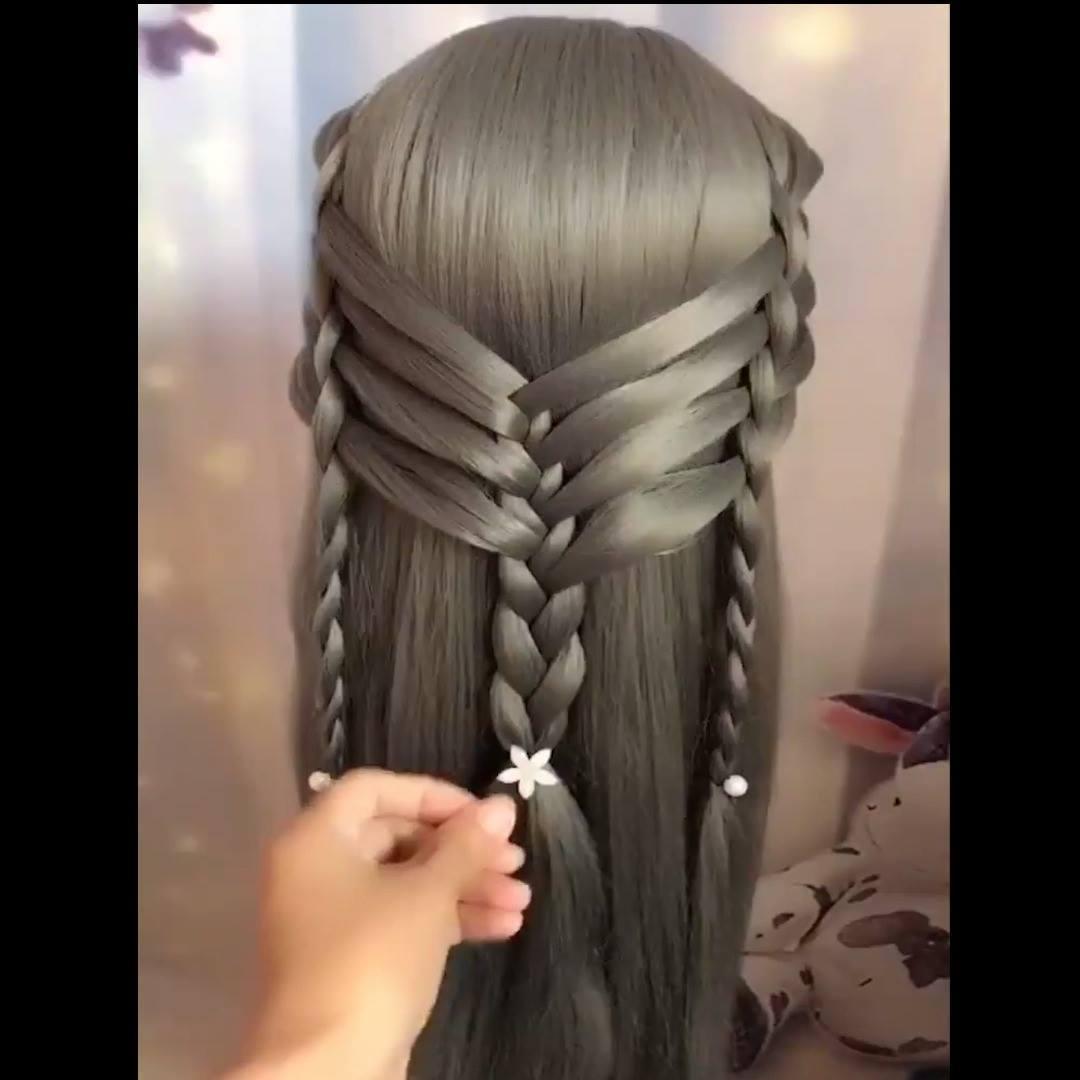 Penteados Para Cabelos Longos Com Tranças é Um Mais Lindo