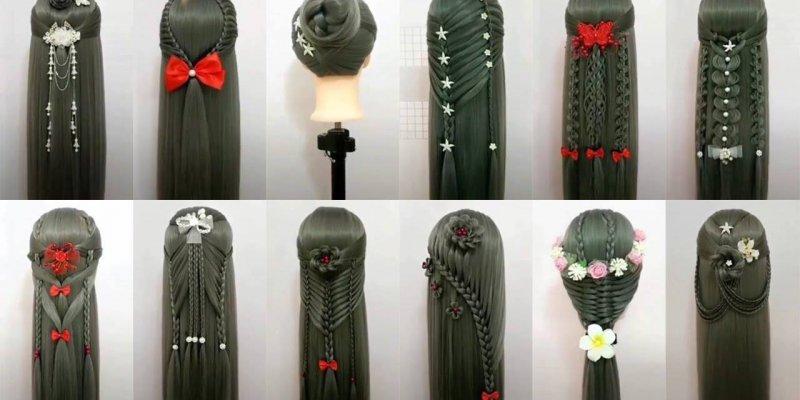 Vídeo com várias inspirações de penteados, são penteados para todo ipo de evento