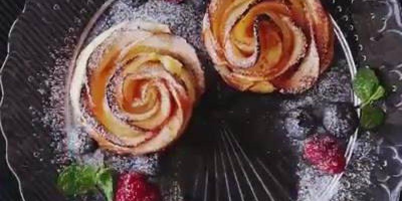 Receita de doce de maçã em formato de rosas, o cheiro se espalha por toda a casa